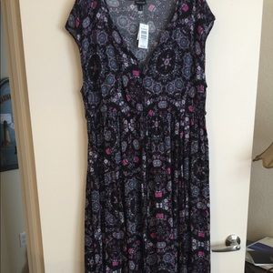Rayon challis maxi dress